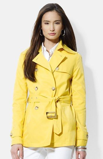 Lauren Ralph Lauren Modern Trench Coat (Petite) available at ...