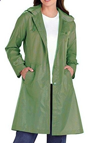 cae4cc2182a ACEVOG Women Packable Raincoat Wind Rain Coat Jacket Windbreaker Sports  Raincoat XL