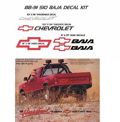 Chevrolet S 10 S10 Baja Decals Sticker Decal 4x4 Chevy Pickup Chev Bowtie Ebay Chevrolet S 10 Chevy Pickups Chevy