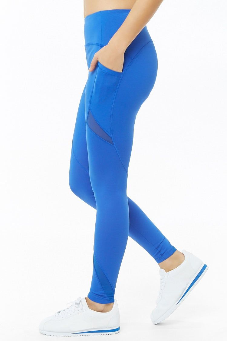 f9497e7d96bac Active Total Coverage Mesh-Inset Leggings | Forever 21 - Running ...
