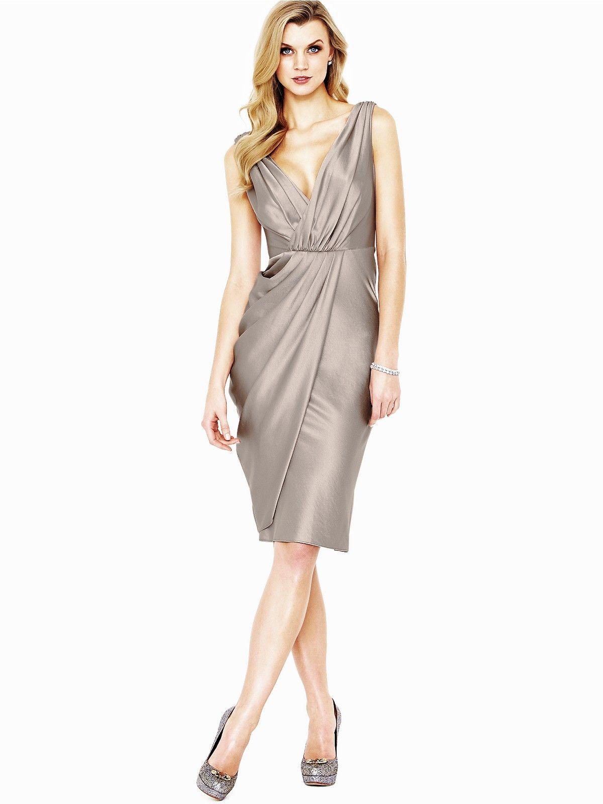Teatro Lacey Drape Satin Dress | Very.co.uk | Vestidos | Pinterest ...