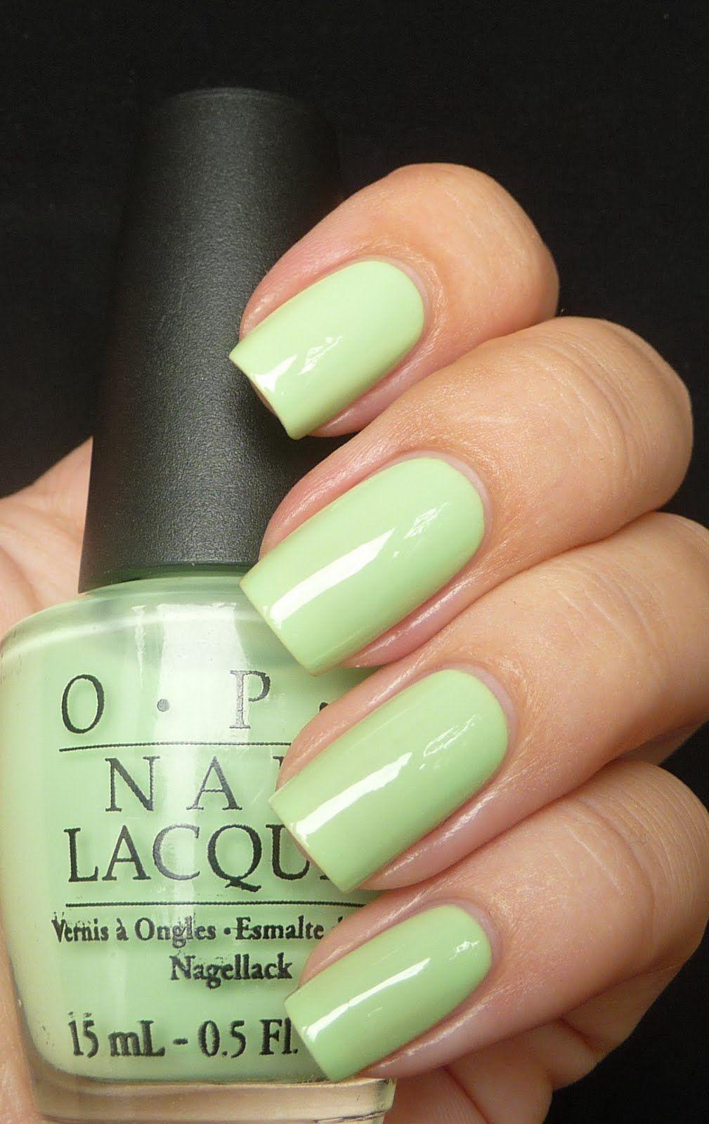 Currently on my nails: OPI Gargantuan Green Grape. Kind of like ...