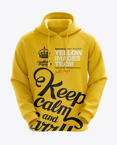 Download Men S Hoodie Front View Hq Mockup In Apparel Mockups On Yellow Images Object Mockups Clothing Mockup Hoodies Men Design Mockup Free