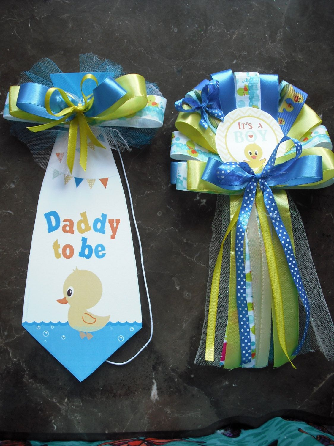 Mommy And Daddy Baby Shower Corsage Duck Set Mommy Corsage