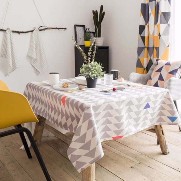 A Touch Of Color Triangle Indoor Outdoor Tablecloth
