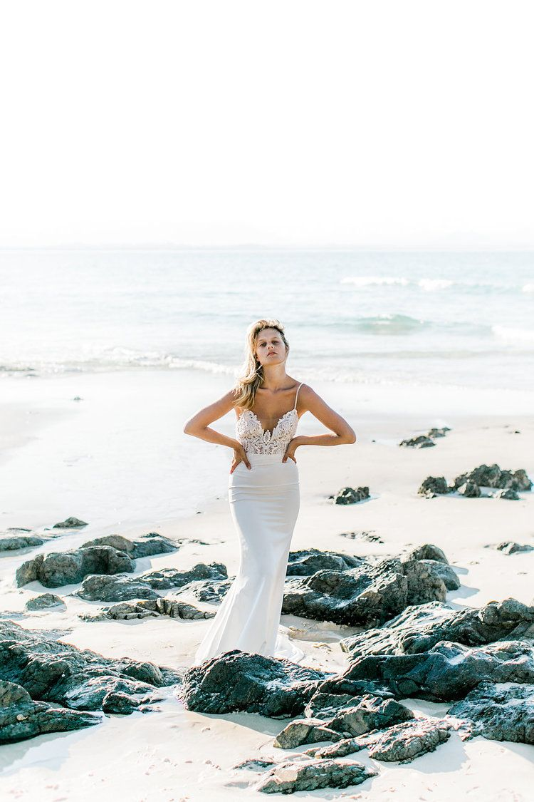 Beach wedding looks  FASHION  Made With Love Bridal  Wedding dresses  Pinterest