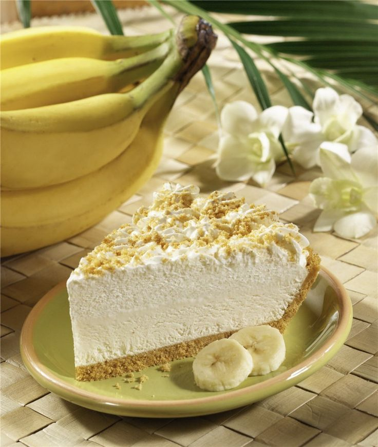No Bake Banana Cream Pie #GlutenFree #Vegan #DairyFree (the filling is just frozen bananas!)
