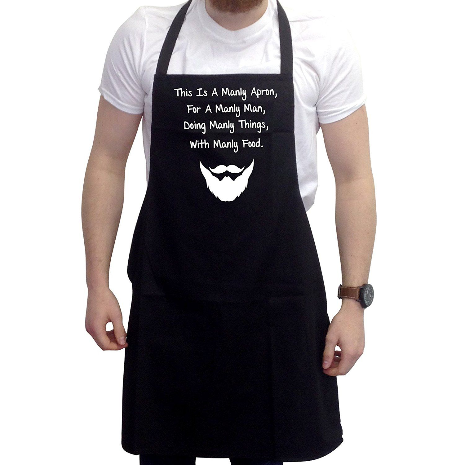 amazon com bbq apron funny aprons this is a manly apron barbecue
