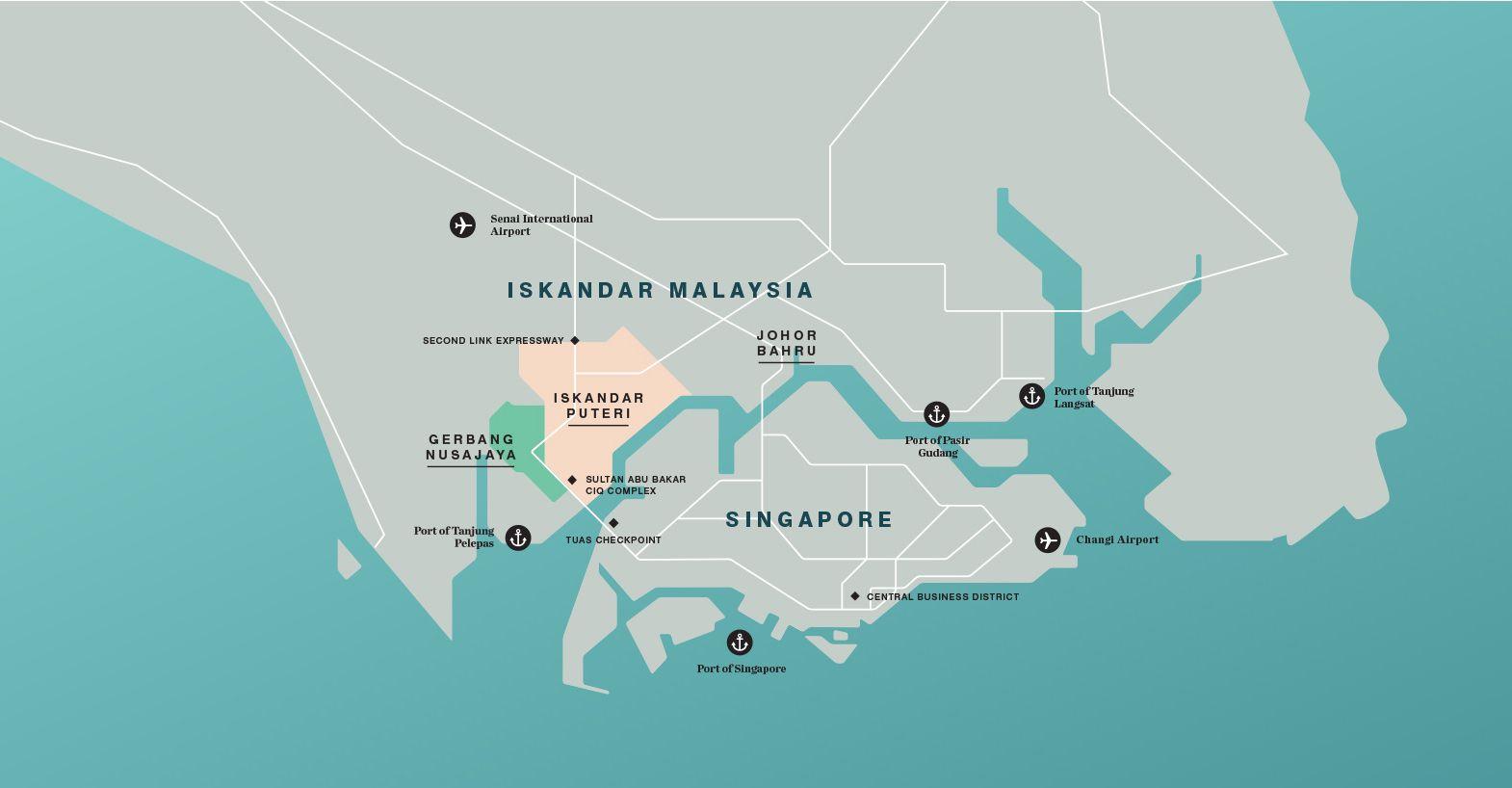 Figure 1 Map of landscapes of Iskandar