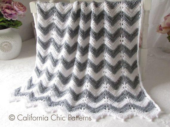 Crochet pattern 55 crochet baby blanket pattern chevron series crochet pattern 55 crochet baby blanket pattern chevron series instant download pdf pattern dt1010fo
