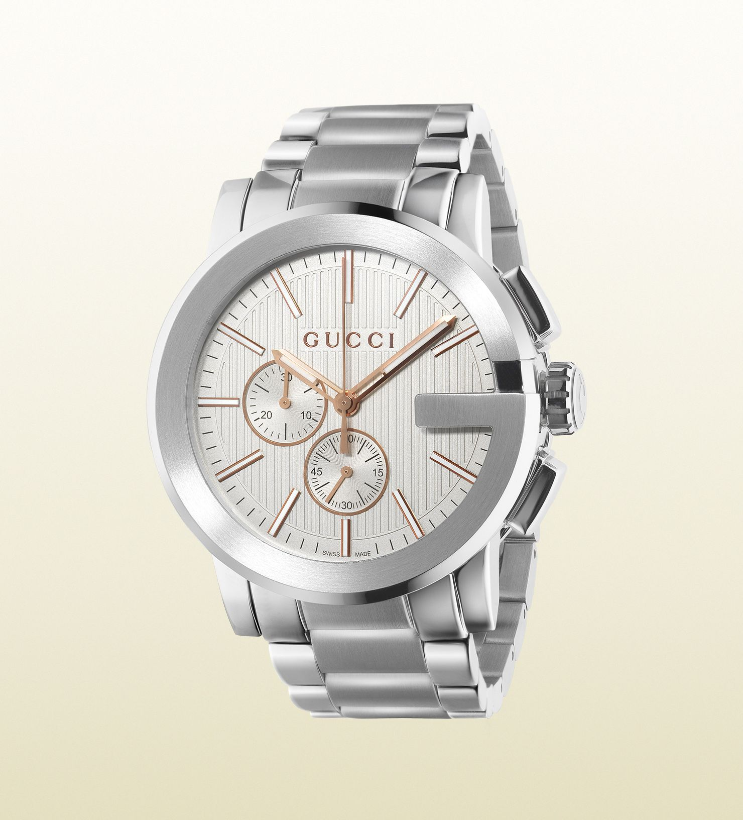 569952067cb Gucci - g-chrono extra large stainless steel watch 367371I16001402 ...