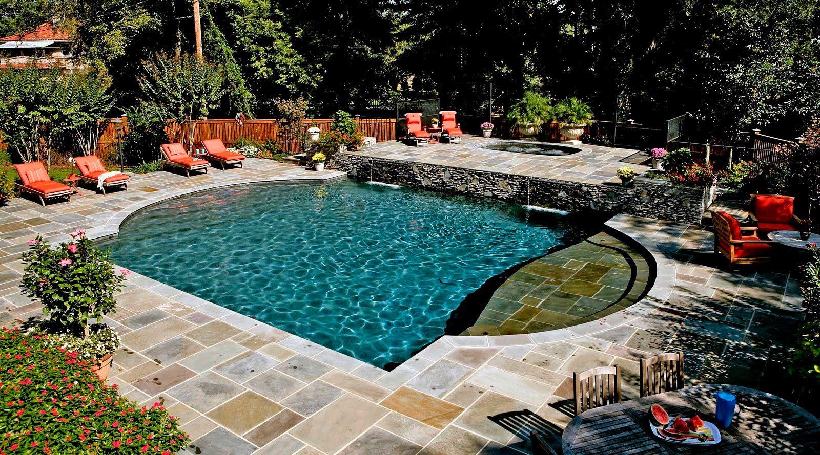 Very small inground pools small custom inground pools for Backyard inground pool designs
