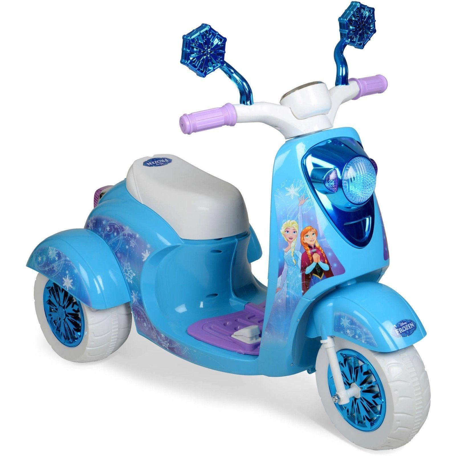 Toys For Girls Disney Frozen 3-Wheel Scooter Ride On Battery Powered Gift 6V ,
