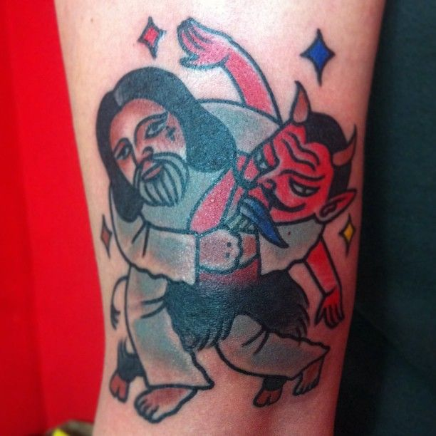 judo jesus wan wild rose tattoo seoul ink needles pinterest. Black Bedroom Furniture Sets. Home Design Ideas