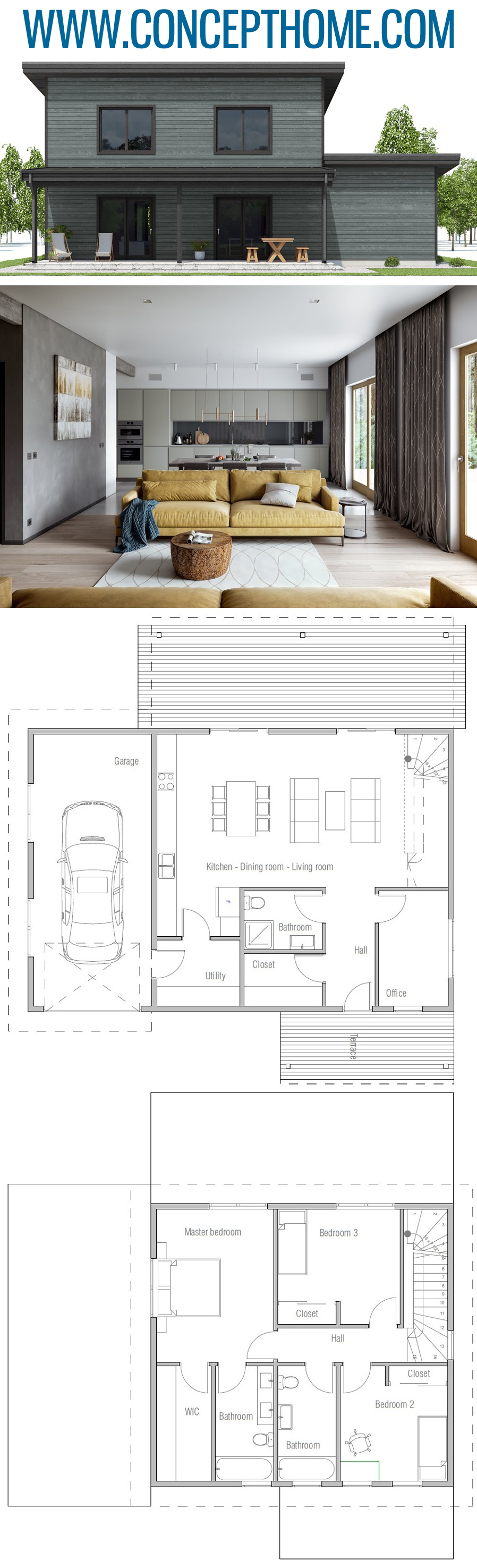 Small House Plan Ch499 House Plans Small House Plans Small House