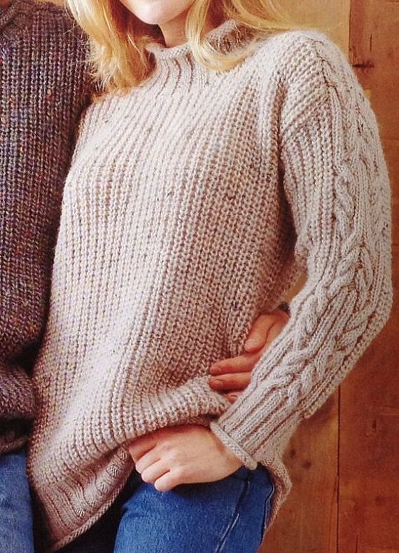Knitting Pattern Boysgirls Ladieswomansmens Aranfisherman Roll