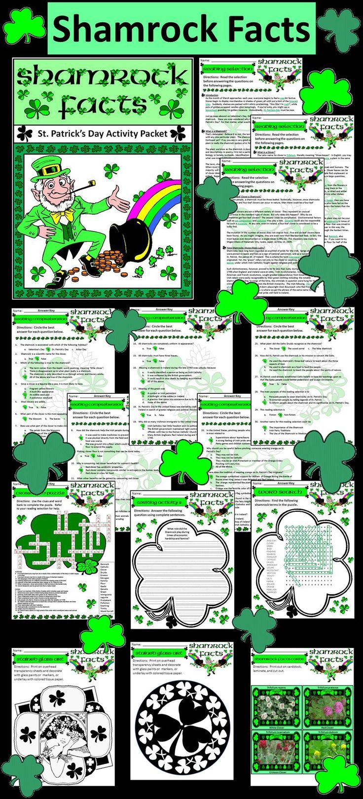 Uncategorized Shamrock History st patricks day activities shamrock facts activity packet detailing the history and science of the