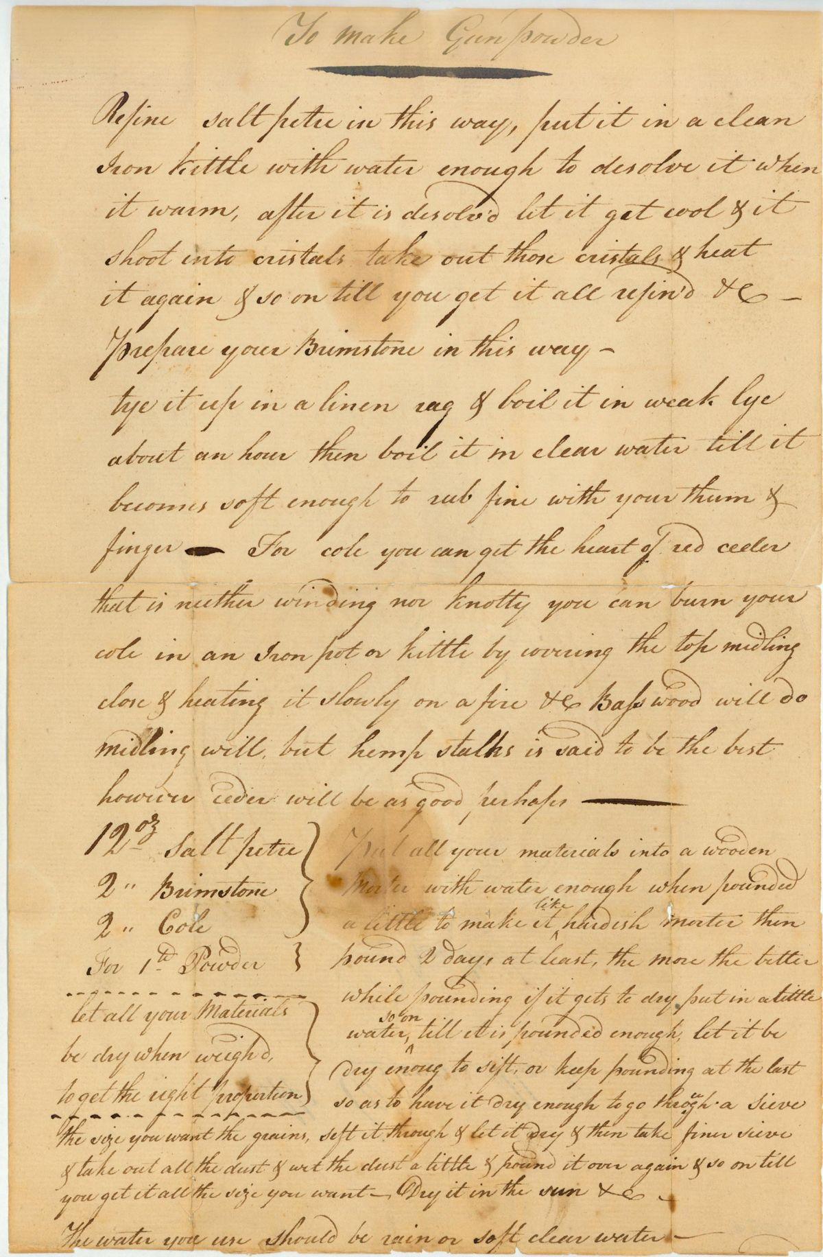 Revolutionary recipes for gunpowder 5000 revolutionary war american revolution forumfinder Choice Image