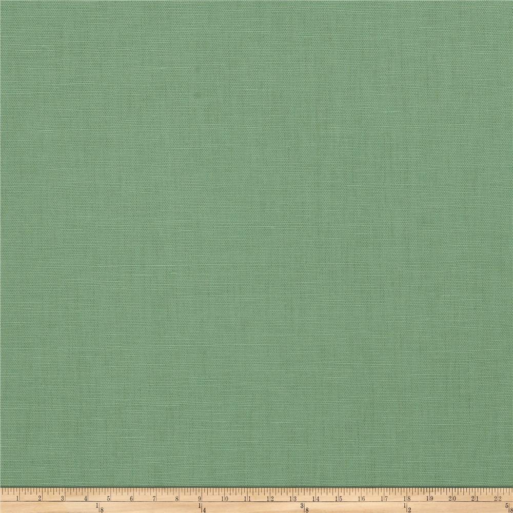 Fabricut Dublin Linen Blend Shamrock Fabric Toss Pillows Cottage Interiors