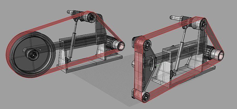 Новая машина сборки РД клон ленточно шлифовальный станок
