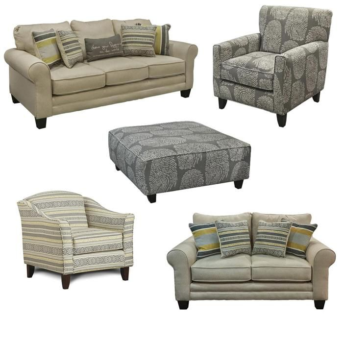 Couch And Two Accent Chairs.Compel Ecru Sofa Loveseat Two Accent Chairs And Ottoman Nebraska