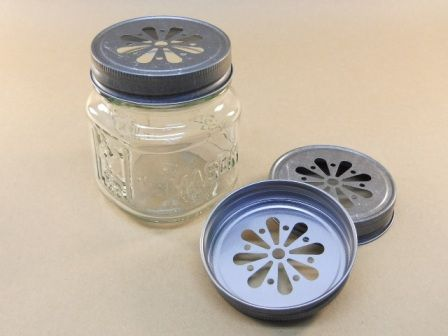 8 oz square mason jars and daisy cut pewter lids wedding ideas pinterest mason jars jar. Black Bedroom Furniture Sets. Home Design Ideas