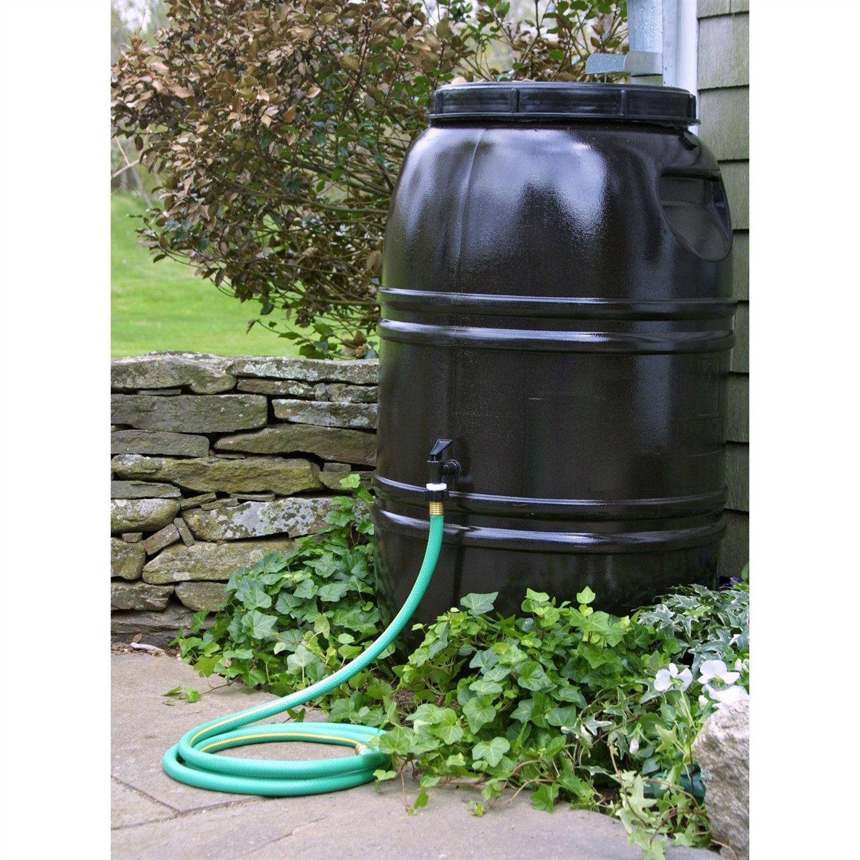 60gallon rain barrel in earth brown food grade plastic