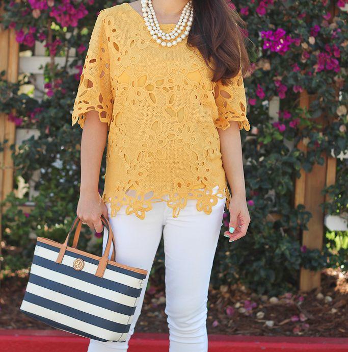 e9d0802a842 Mustard crochet top