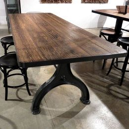 French Industrial Dining Table (30h)