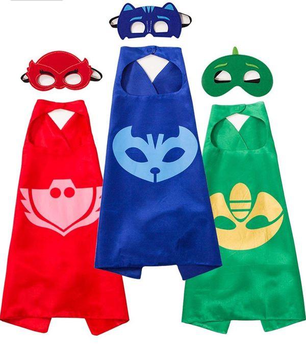 Superhero Cape /& MASK Set Kids Childrens Halloween Costume Catboy