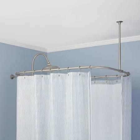 Shower Curtain Rod For Corner Garden Tub Google Search Curtain Rods