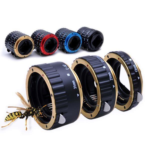 EOS af entre anillos Automatik macro 13mm 21mm 31mm Canon EOS EF lente de cámara
