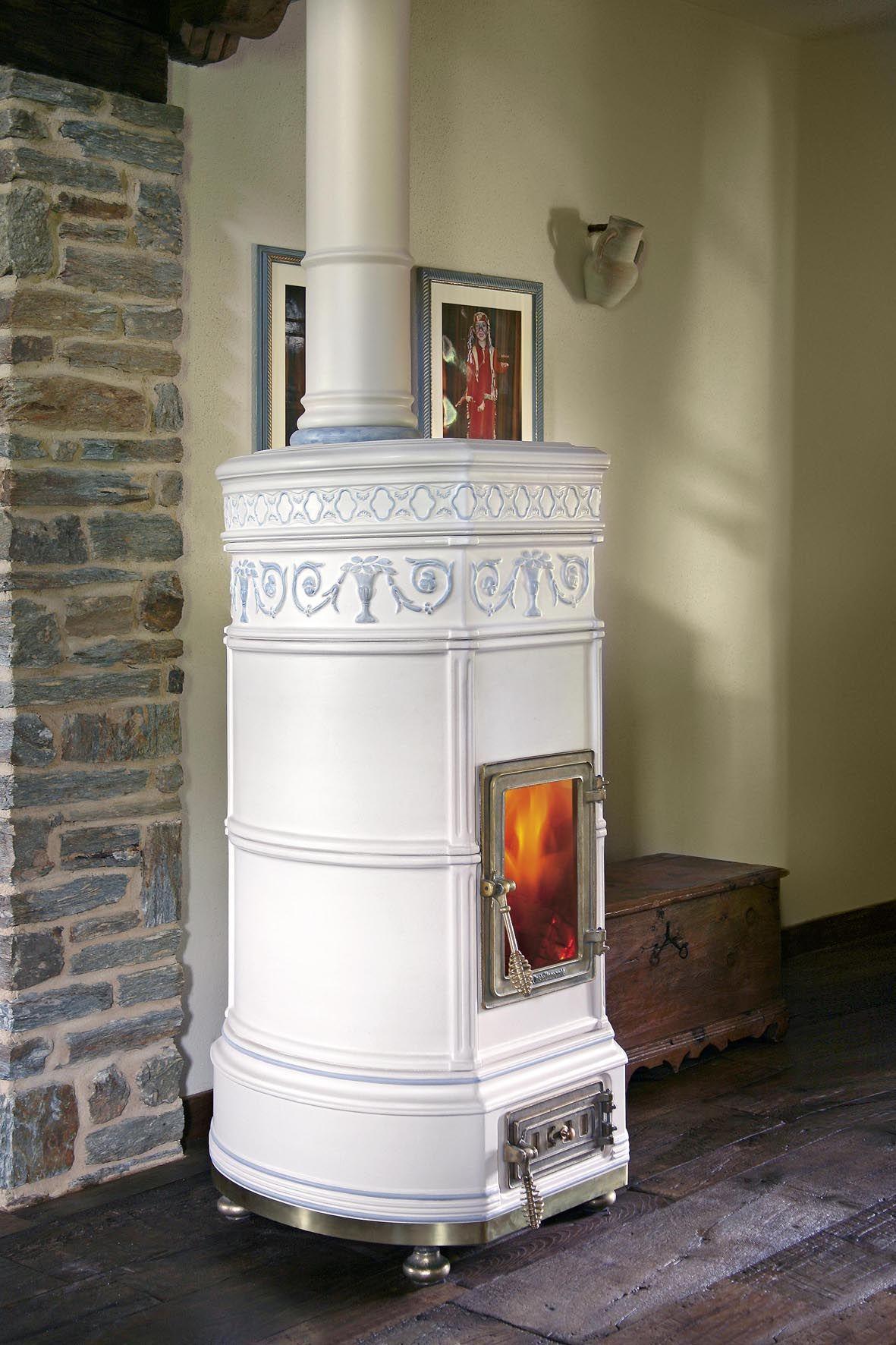 grand'ovale 2nd size - hand decorated   cheminée et poêle