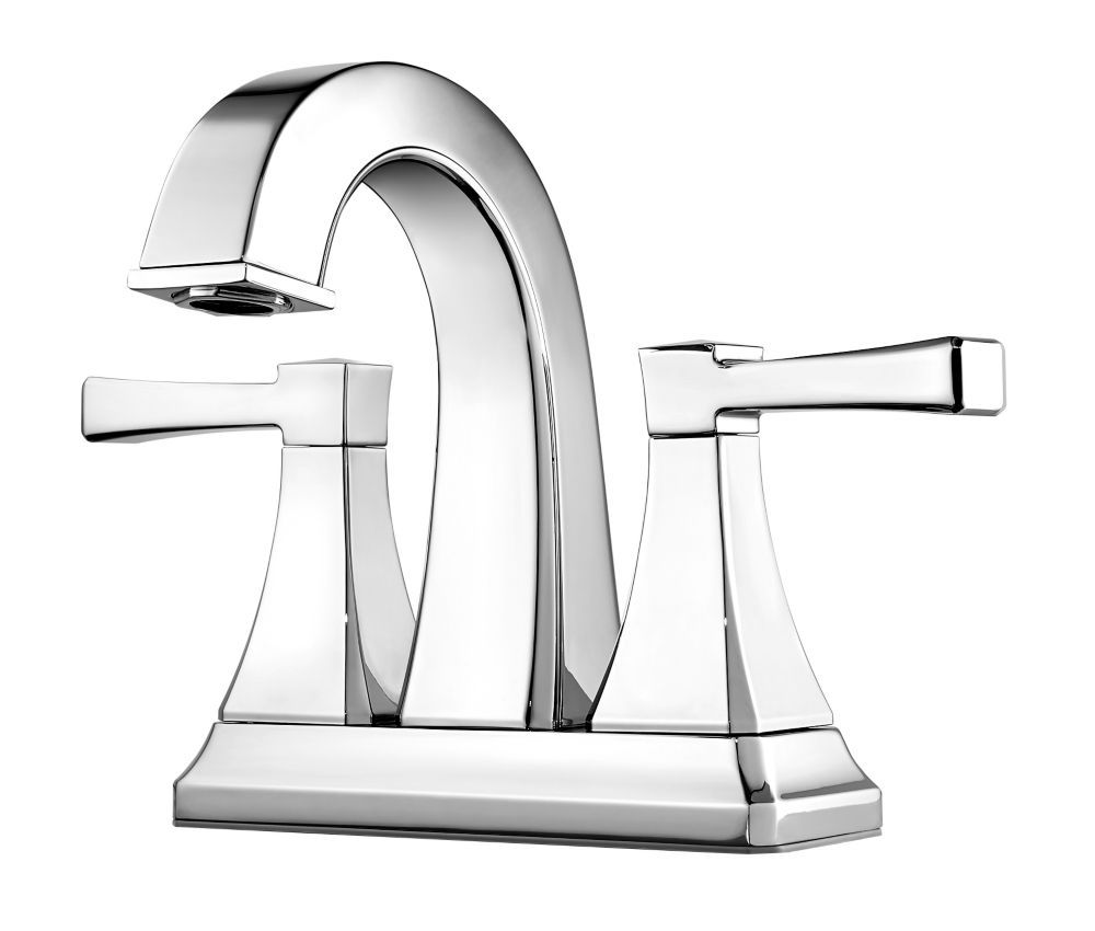 Halifax 2 Handle 4 Inch Centerset Bathroom Faucet In Polished
