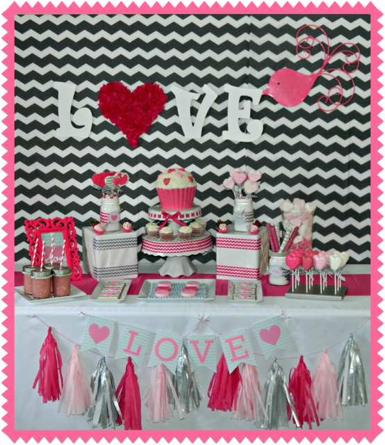 Tema coração inspiração cartela de cores branco peruo, rosa bebe, pink e vermelho