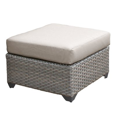 Summer Classics Outdoor Ottoman With Cushion Frame Color Black