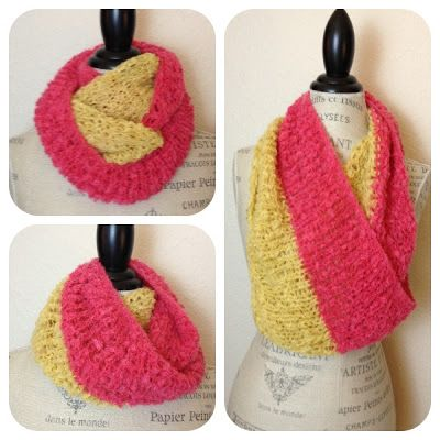 Duo Cowl Free Knitting Pattern | Boucle yarn, Knit cowl and Circular ...