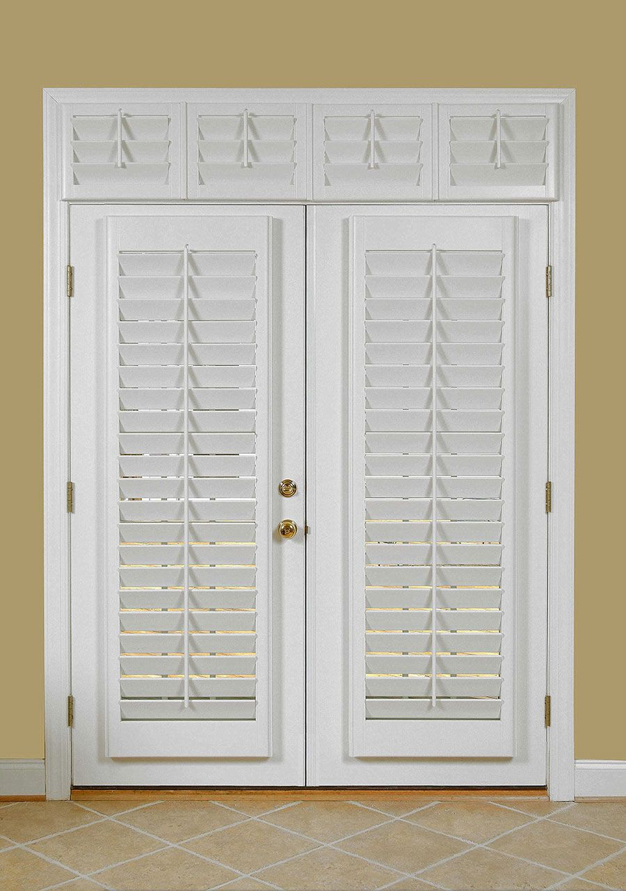 Bust of shutters for french doors practical way to dress your a french door unit in white with white shutters feature diamond cut shape ceramic tiles in cream color rubansaba