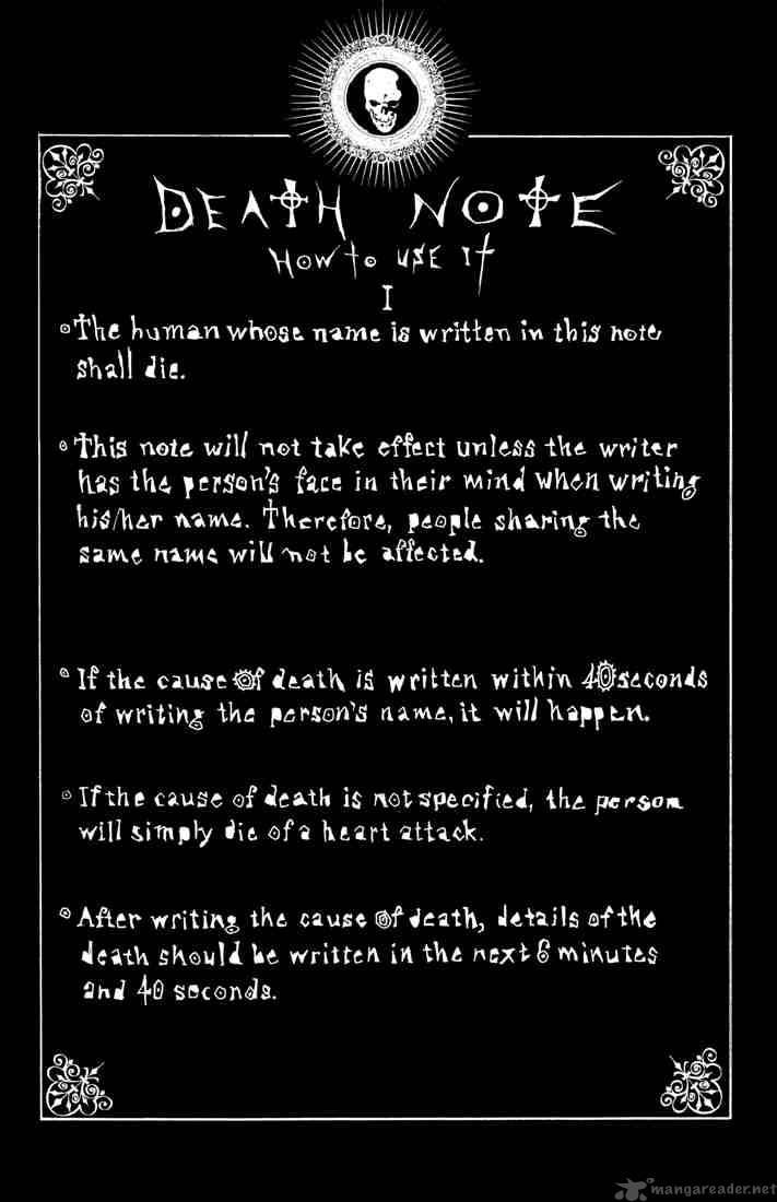 Deathnote - How to use it
