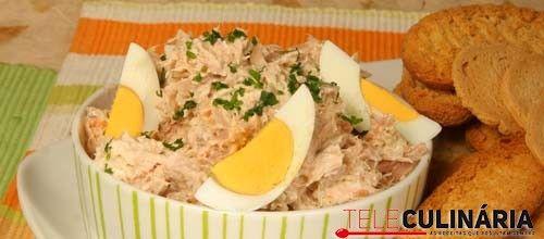 Receita de Paté de atum. Descubra como cozinhar Paté de atum de maneira prática e deliciosa com a Teleculinária!