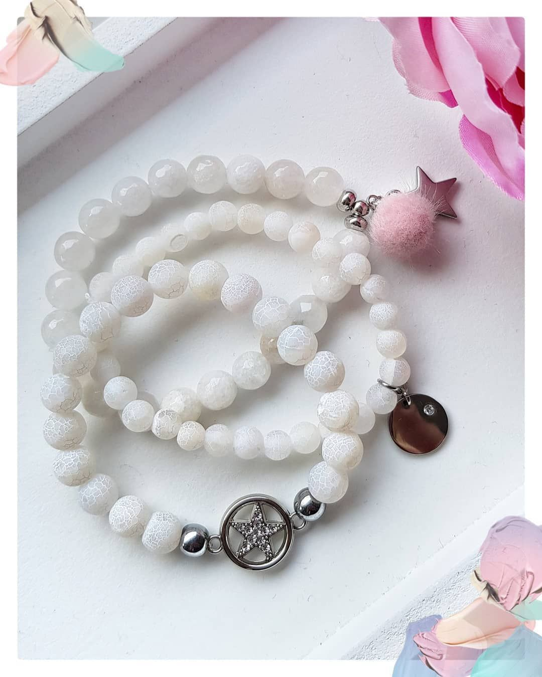 Happy Friday 💞💞💞 _____________________________________________  #mala #malanecklace #tassel #pink #pinklove #yoga #yogaphotography #yogajewelry #namaste #gemstone #om #buddha #thinkpink #mommyblogger #momlife #yogamom #businessmom #accessories #jewelryinspo #jewelrydesign #motivation #diy #hamsahand #instagood #jotd #ootd