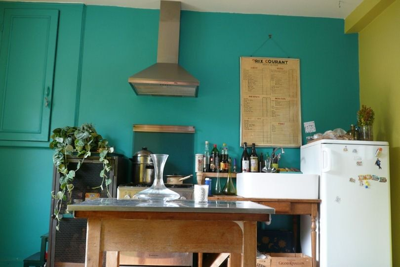 Résultat De Recherche Dimages Pour Cuisine Bleu Turquoise Vert - Deco salon vert anis pour idees de deco de cuisine