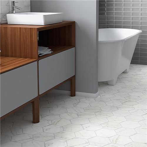 7 X8 Clico Carrara Hexagon Porcelain Floor Wall Tile