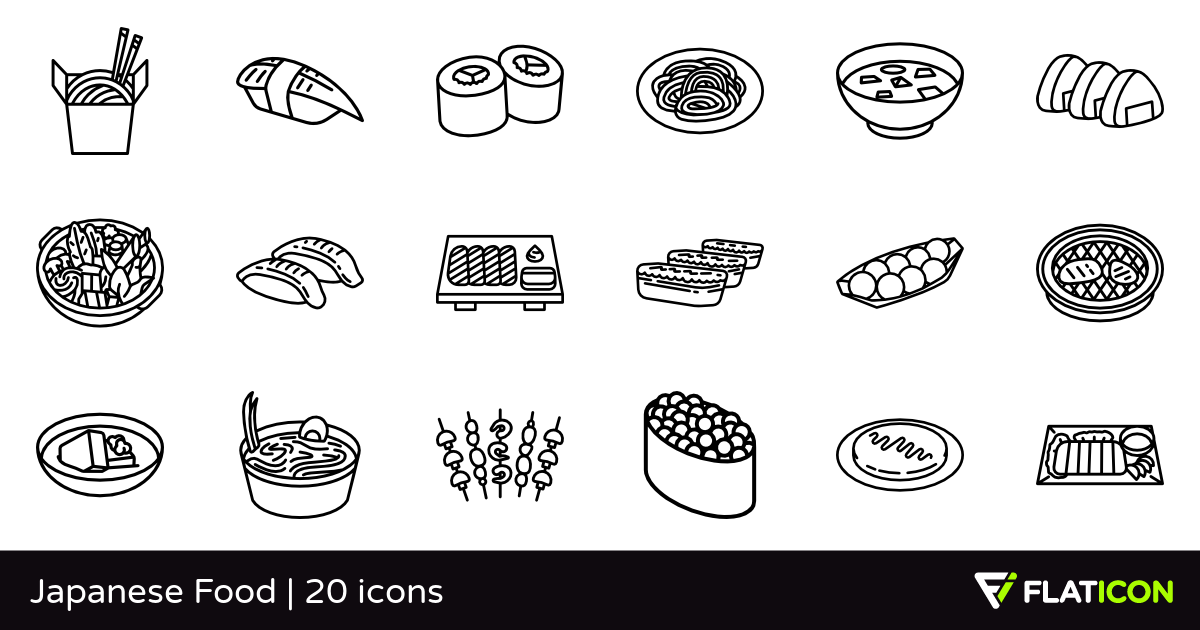 20 Free Vector Icons Of Japanese Food Designed By Freepik Japanese Food Food Design Food Icons