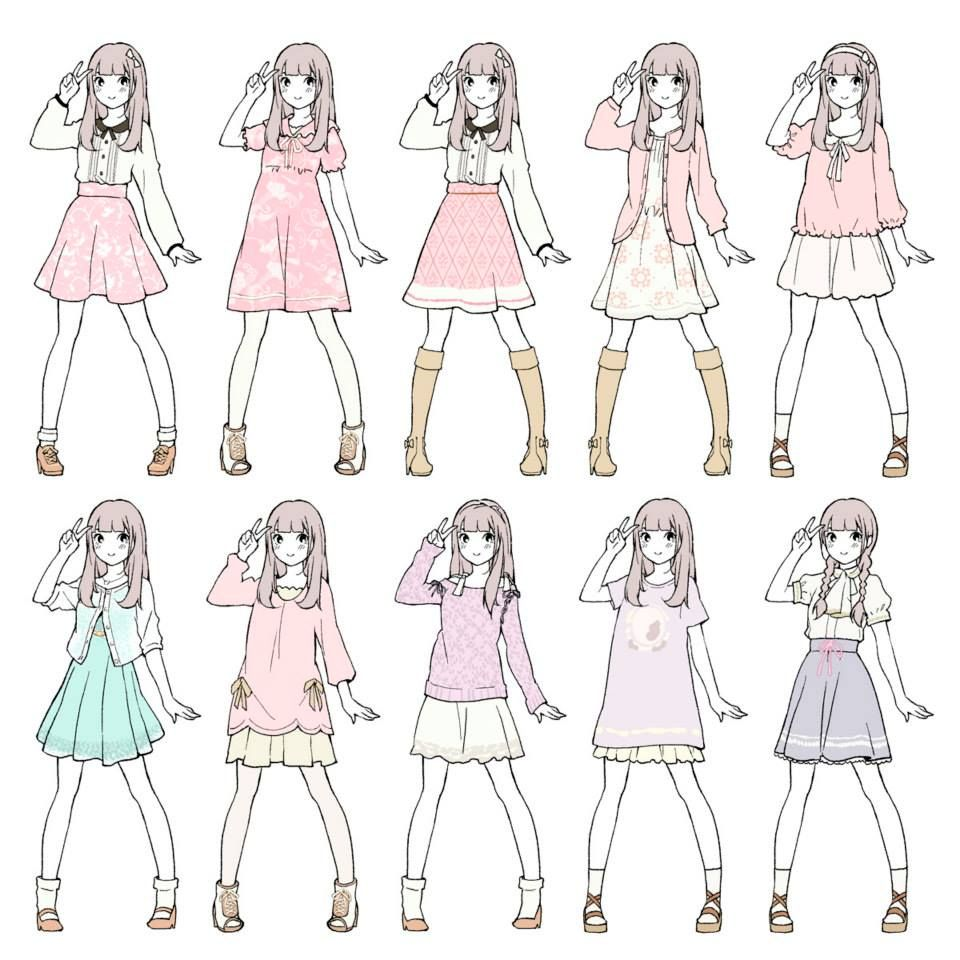 Clothes 3 Drawing Anime Clothes Anime Outfits Character Design