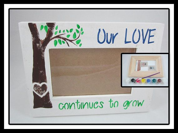 Diy Craft Kit Diy Picture Frame Decorate Your Own Wooden With