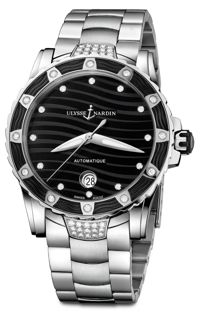 Ulysse Nardin Lady Diver for 2014 reference numbers: 8153 - 180E - 3C/ 10 8153 - 180E - 3C/12