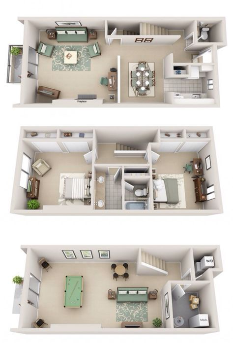 875 930 Rent 100 930 Dep 2 Beds 1 5 Baths 1728 Sq Feet House Plans Sims House Small House Plans
