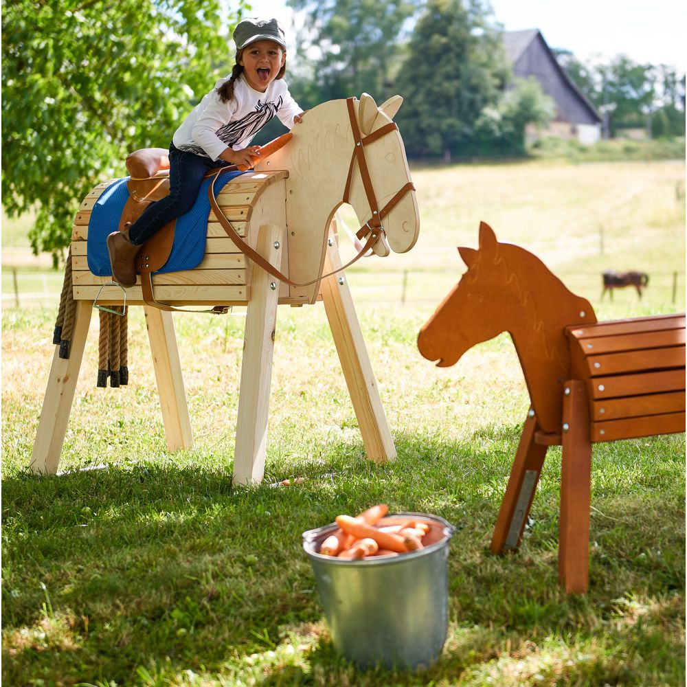 Holzpferd Jako O Kiefer Und Birke Natur Jako O In 2020 Holzpferd Holzpferd Selber Bauen Pferd