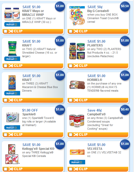 Free online grocery coupons for walmart